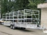 Прицеп тормозной TCS- ПГЛТ2-9014- для перевозок байдарок (оцинк.