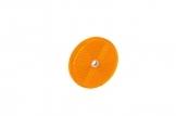 Светоотражатель Fristom круглый, оранжевый с отверстием DOB-033