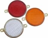 Катафот круглый белый, красный, желтый (ФП-310Е)